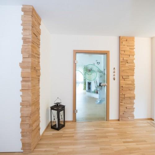 Wandgestaltung Spaltholz